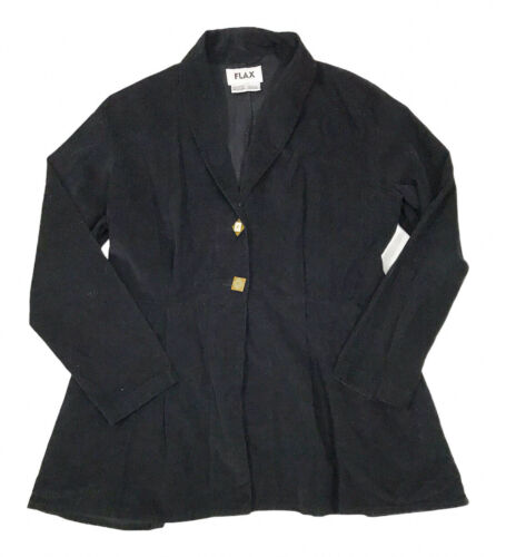 Flax Women M Cotton Corduroy Jacket Blazer Lagenlo