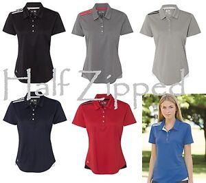 d8bc6db0e9 Adidas Women's Polo Golf Climacool 3-Stripes Shoulder Sport Shirt ...