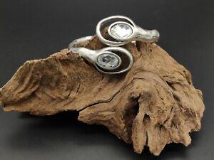 Pulsera-Zamak-alta-calidad-piedra-cristal-BLANCO-bisuteria-pulseras-ajustable