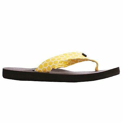 6713077c3 Womens Tommy Hilfiger CADEE Yellow Slip On Flip Flop Thong Sandal Shoes