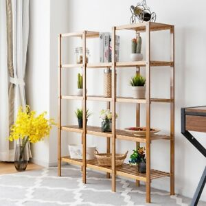 Image Is Loading 5 Tier Shelves Bamboo Shelf Flower Plant Display