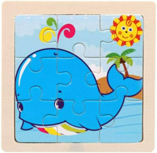 Intelligence Kids Toy Wooden 3D Puzzle Jigsaw Tangram for Children Baby Cartoon