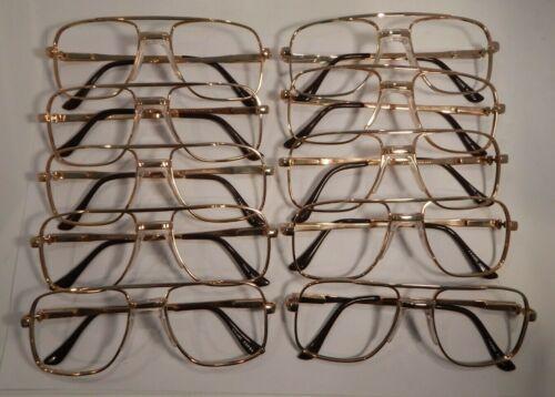 Vintage 10 Pc Lot Elite Pierre Gold 54//20 Men/'s Metal Eyeglass Frame NOS S28