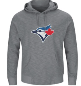 low priced 17f01 0dfc5 Details about Men's Toronto Blue Jays Majestic Gray Without Delay Fleece  Pullover Hoodie Large