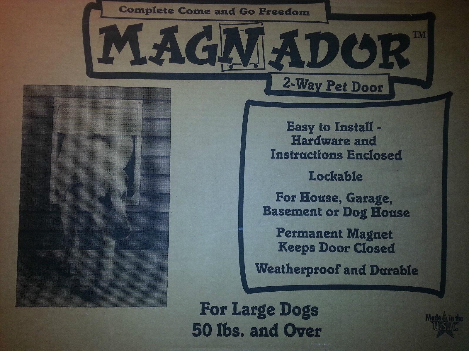 MAGNADOR Two Way PET Door (BRAND NEW) Weiß-Größe GRAGE