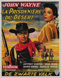 1956 The Searchers Natalie Wood John Wayne movie poster print 5