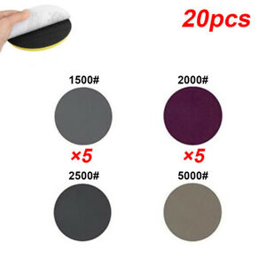 20pcs-Set-5-1cm-Hook-amp-Loop-1500-2000-2500-5000-Gravier-Humide-amp-Sec-Abrasives