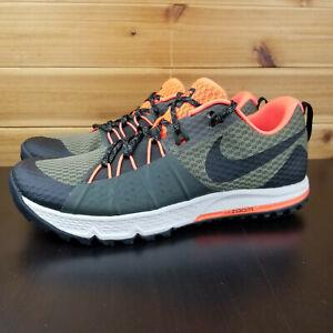 30d95a7b51081 Nike Air ZOOM Wildhorse 4 Olive 880565-208 Mens Shoes Sz 7.5 Trail ...