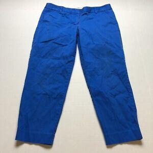 J Crew City Fit Blue Crop Chino Pants Size 12 A1886