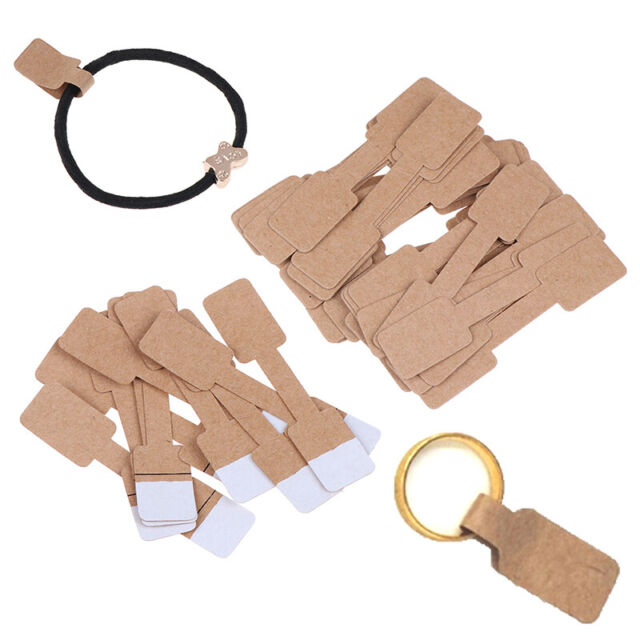 50/100Pcs Quadrate Blank Price Tags Necklace Ring Jewelry Labels Paper Sti RUS