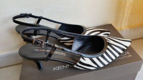 Kennel&schmenger Zapatos Gr7/40 Piel Charol / Abrir Trés Chic Nuevo con Caja