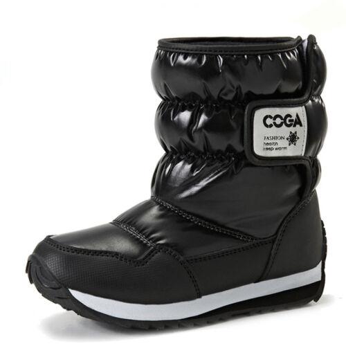Unisex Kids Boys Girls Winter Boots Warm Shoes Waterproof Snow Boots Fashion New