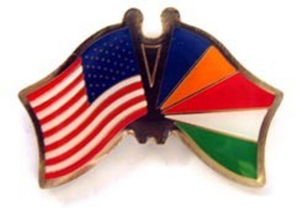 Wholesale Pack of 50 USA American Seychelles Friendship Flag Hat Cap lapel Pin