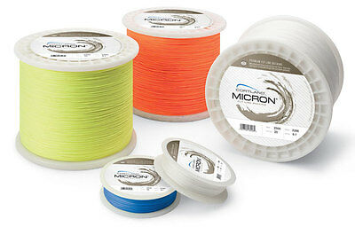 White 30 lb Test Cortland Micron Fly Line Backing 100 to 2,500 Yd Spools