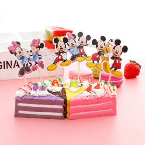 Cupcake Cake Toppers Mickey Mouse And Friends 24pcs