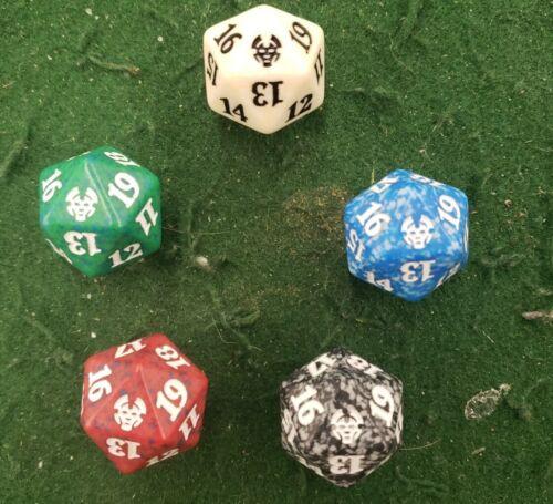 MTG Spindown Life Counter 1 ea color 5 Theros Beyond Death Dice Set