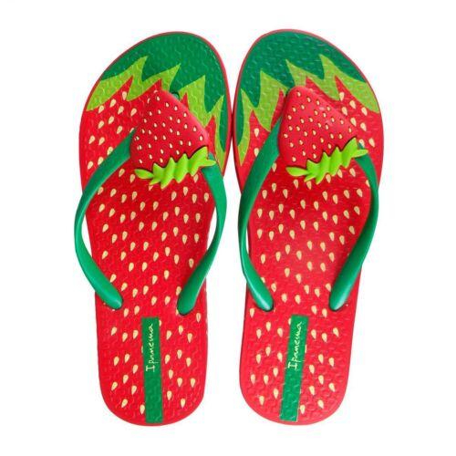 Kids Girls Ipanema Tutti Frutti Strawberry Flip Flops Sandals