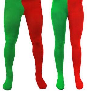 elfes accessoire robe fantaisie Elf Collants Rouge /& Vert