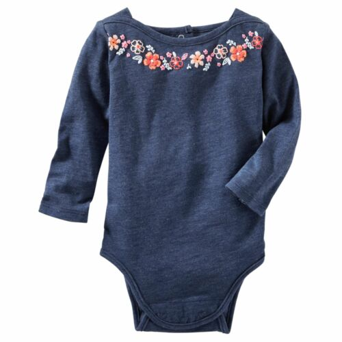 NWT OshKosh Infant Girl Bodysuits Your Choice Pink Gray Navy Glittery 6-24 Mo.