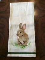 Pottery Barn Easter Pasture Bunny Rabbit Kitchen Towel