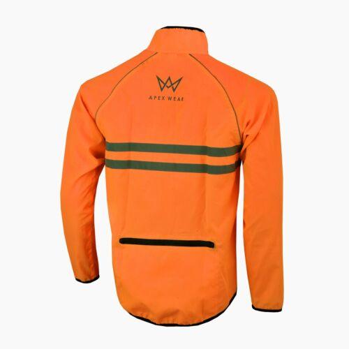 Homme Cyclisme Veste Haute Visibilité Imperméable Running Top Manteau de pluie S à 2XL