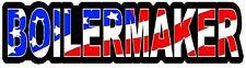 BOILERMAKER AMERICAN FLAG HELMET STICKER