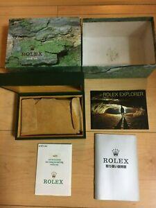 GENUINE-ROLEX-Explorer-114270-watch-box-case-68-00-02-Booklet-guarantee