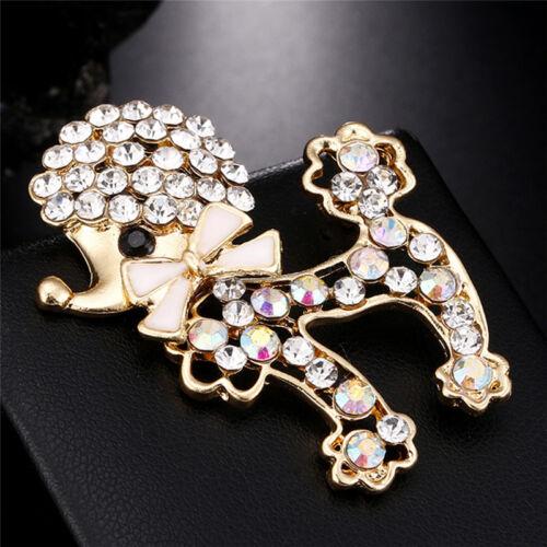Crystal Rhinestone Dog Brooch Pin Lovely Puppy Animal Brooch Pin Women Jewelry..