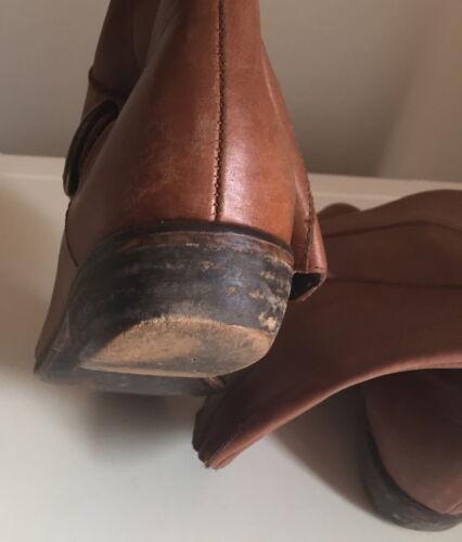 5 38 Uk marrone in taglia chiaro Zara pelle Stivali femminile pvxaWST