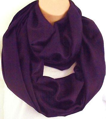 Besorgt Exclusive Design Silk (50%) & Viscose Lrg Plum Paisley Infinity Scarf Snood New