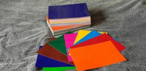 Fensterfolie 15 X  Farbige Transparente Bastelfolie Wiederverwendbar