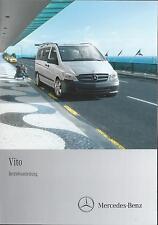 MERCEDES  VITO 639 Betriebsanleitung 2013 Bedienungsanleitung Handbuch BA