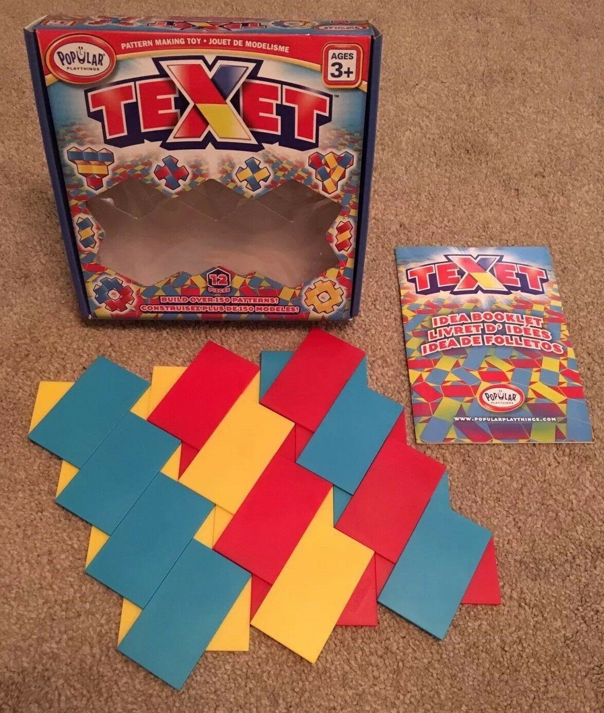 Texet Puzzle Pattern Tile Game Brain Teaser - Popular Playthings COMPLETE