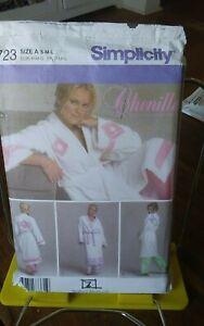 Simplicity-Nancy-McHugh-4723-misses-chenille-robes-spa-2-lengths-sz-10-20-NEW