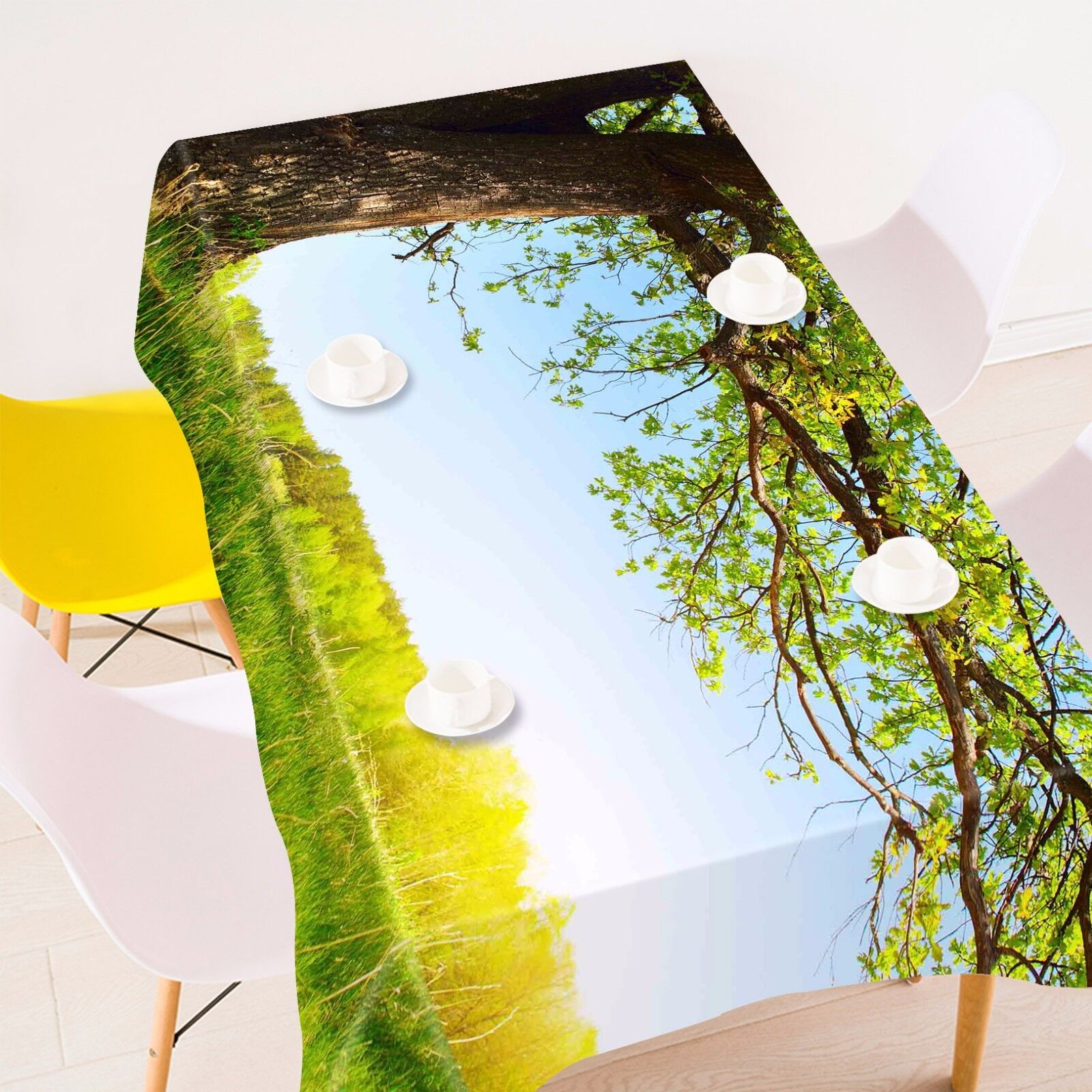 3D Tree lawn97 Tablecloth Table Cover Cloth Birthday Party Event AJ WALLPAPER UK