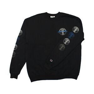 Mens-Crooks-Castles-All-City-Champion-Crew-Neck-Sweatshirt-Black