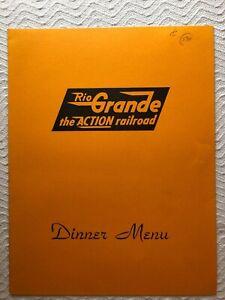 DENVER-amp-AMP-RIO-GRANDE-WESTERN-RAILROAD-1970-HEAVY-PAPER-DINNER-MENU-COLORADO