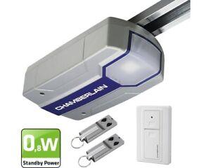 ML1000EV-Chamberlain-Garagentorantrieb-1000N-Schiene-Wandtaster-2-Handsender