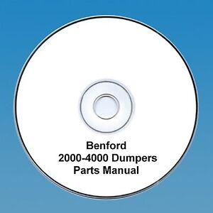 Benford-2000-4000-4wd-Dumpers-Operators-amp-Parts-Manual