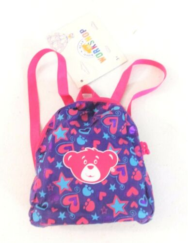 Build a Bear - Hearts & Stars Fuchsia Purple Backpack Accessory []