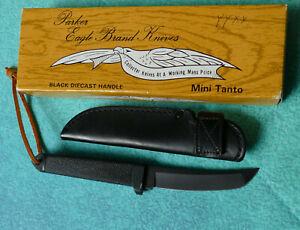 PARKER-Cut-Co-Japan-Black-Mini-Tanto-Boot-Knife-NEW-Eagle-Brand-Tactical-Dagger