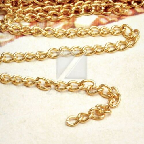 4M 13.12 feet Unfinished Chains Necklaces Curb Chain 0.8x3x4mm 4 COLOR