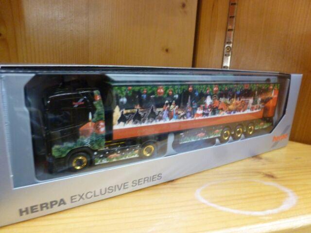 Herpa Scania Weihnachsmodell 2017 Sattelzug mit Zugmaschine 1:87