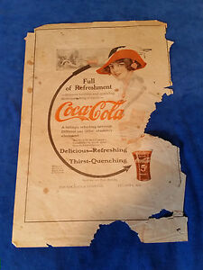 1913-Original-Coca-Cola-Vintage-ad-Full-Of-Refreshment-10-1-2-034-x15-1-2-034