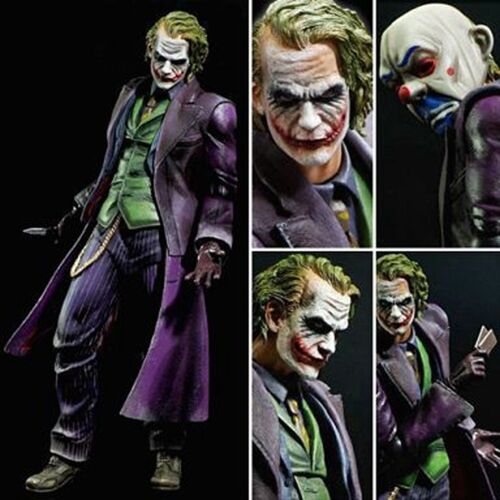 Play Arts Kai The Dark Knight Trilogy The Joker PVC Action Figure Nuovo In Box