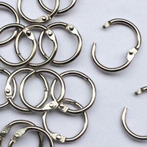 10Pcs-Metal-Hinged-Ring-Book-Rings-Binder-Scrapbook-Keyring-Craft-Supply-Art-DIY