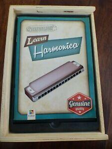 #7  LEARN  HARMONICA BOOK WITH SWAN KEY C IN WOOD BOX