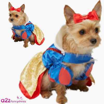 DISNEY PRINCESS SNOW WHITE DOG PUPPY PET CAT OFFICIAL NOVELTY CUTE COSTUME DRESS