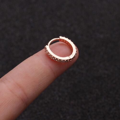 Conch Snug 6//8//10mm CZ Ear Piercing  Huggie Hoop Earring Nose Ring Body Jewelry