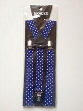 STYLISH FASHIONABLE MENS/LADIES POLKA SPOT BRACES SUSPENDERS  2.5cm